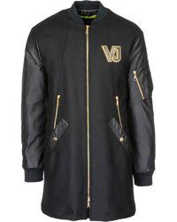 Versace Jeans - Logo Detail Coat - Lyst
