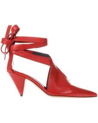 Céline - V Neck Salomé Ankle Tie Shoes - Lyst