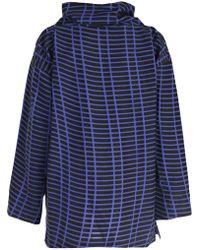 Issey Miyake - Oversized Check Print Sweatshirt - Lyst