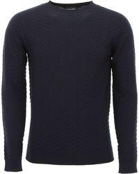 Giorgio Armani - Chevron Sweater - Lyst