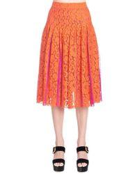 Diane von Furstenberg - Pleated Lace Skirt - Lyst