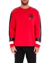 Tommy Hilfiger - Logo Striped Sweatshirt - Lyst