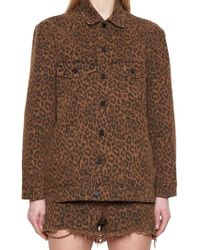Alexander Wang - Leopard Print Shirt Jacket - Lyst