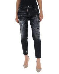 DSquared² Faded Boyfriend Jeans