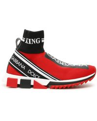 Dolce & Gabbana Exclusive Sorrento High-top Sneakers - Red