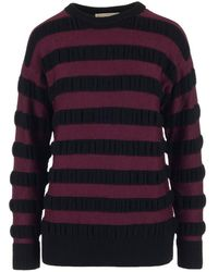 MICHAEL Michael Kors - Striped Knit Jumper - Lyst