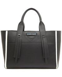 81c5233e0a9e Prada Leather Chain Strap Shoulder Bag in Black - Lyst