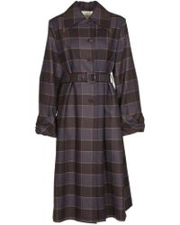 Mulberry - Belted Checked Coat - Lyst