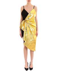 e8c2f2930 Gucci - Two-tone Draped Asymmetric Mini Dress - Lyst