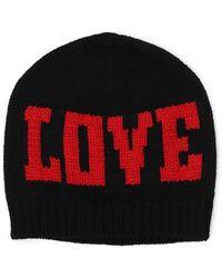 Dolce & Gabbana - Intarsia Knit Love Beanie Hat - Lyst
