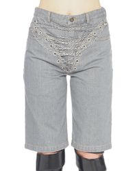 Y. Project - Chain Embellished Shorts - Lyst