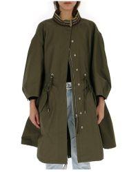 Alberta Ferretti - Oversized Parka Jacket - Lyst