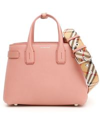 251f929529f8 Lyst - Burberry Small Lavenby Reversible Tote in Red
