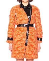 Moschino - Belted Fur Coat - Lyst