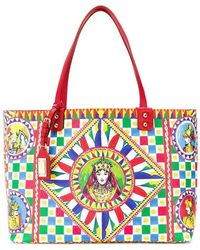 fac34238d691 Dolce   Gabbana - Sicilian Carretto Beatrice Shopper Bag - Lyst