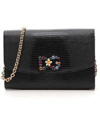 Dolce   Gabbana - Chain Strap Embellished Crossbody Bag - Lyst c02b2deca4305