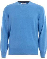 Brunello Cucinelli - Crew Neck Knitted Sweater - Lyst