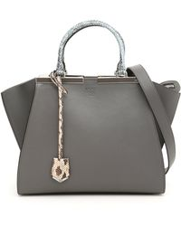 7409cf51cf70 Lyst - Fendi 3jours Medium Tote Bag With Ribbon Whipstitching in Brown