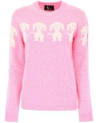Moncler Grenoble - Pink Cashmere And Wool Pullover - Lyst
