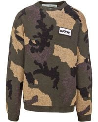 Off-White c/o Virgil Abloh - Camouflage Sweater - Lyst