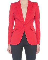 Alexander McQueen - Single Breasted Blazer - Lyst
