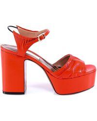 ab2719f3224 L Autre Chose - Pannelled Platform Sandals - Lyst