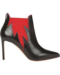 Francesco Russo - Contrast Panel Ankle Boots - Lyst