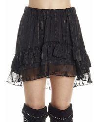 Isabel Marant - Layered Mini Skirt - Lyst