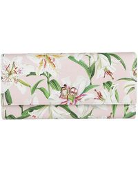 Dolce & Gabbana - Continental Floral Print Wallet - Lyst