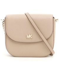 d13a670e2830 Lyst - MICHAEL Michael Kors  large Cindy  Dome Crossbody Bag in White