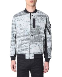 Stone Island Shadow Project - Mottled Pattern Chine Bomber Jacket - Lyst
