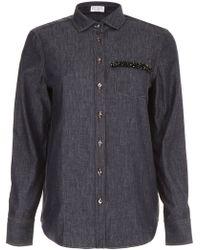 Brunello Cucinelli - Denim Shirts - Lyst