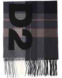 f6d31048e5 Lyst - DSquared² Wool Scarf With Patches for Men