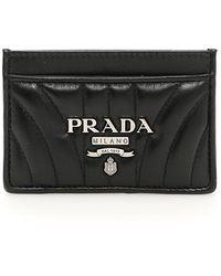 Prada - Leather Cardholder - Lyst