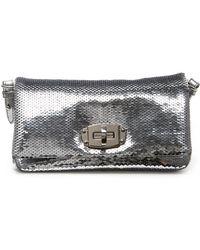 c812339bb53 Dolce   Gabbana Vanda Sequined-Embellished Bag in Metallic - Lyst