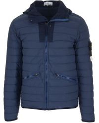 Stone Island - Down Zipped Jacket - Lyst