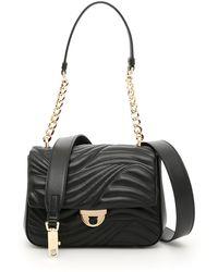 88320569ca5e Ferragamo Quilted Gelly Shoulder Bag in Black - Lyst