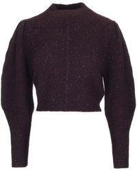 Isabel Marant - Elaya Cropped Knit Sweater - Lyst