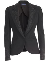 Polo Ralph Lauren - Fitted Embroidered Blazer - Lyst