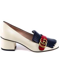 48051cc15 Lyst - Gucci Marmont Suede Pumps in Black