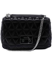 093cd6dce528 MICHAEL Michael Kors Sloan Large Chain Shoulder Bag - Black in Black ...