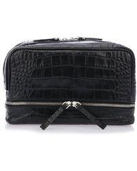 Neil Barrett - Croc Effect Zip Makeup Bag - Lyst
