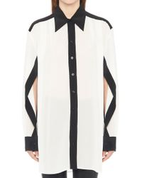 Givenchy - Contrast Trim Shirt - Lyst