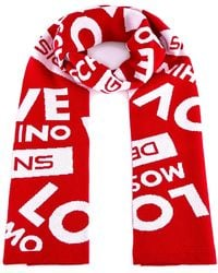 Love Moschino - Logo All Over Scarf - Lyst