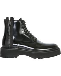 Givenchy - Givency Zipped Lace-up Ankle Boots - Lyst