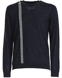 Giorgio Armani - Striped Roundneck Sweatshirt - Lyst