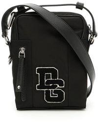 2b0ca7213d Giorgio Armani Leather Messenger Bag in Black for Men - Lyst