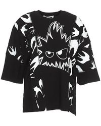 7777718e McQ Geometric Logo Print T-shirt in Black - Lyst