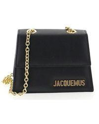 Jacquemus - Logo Plaque Crossbody Bag - Lyst