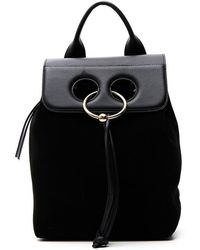 JW Anderson - Suede Pierced Backpack - Lyst